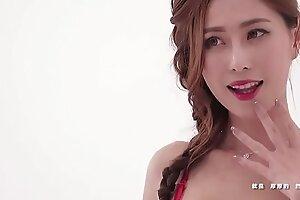 公众号【91报社】JKF性感女郎艾比新年红旗袍诱惑
