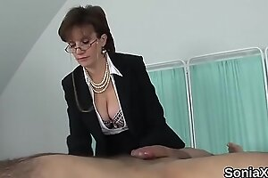 Unfaithful uk mature lady sonia pops out her oversized melons