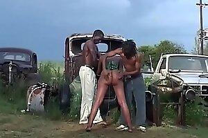 busty african fetish milf threesome banged