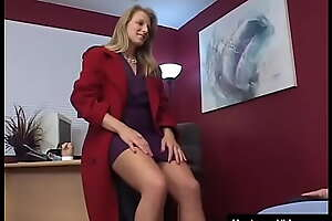 Old and extremely perverted grandpa fucks slutty MILF