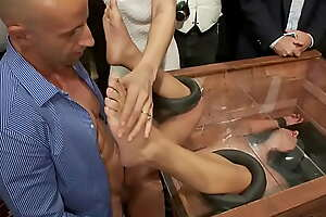 Slave public fisted and fucked