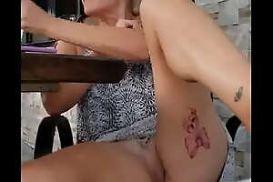 Bare Pussy At Outdoor Bar