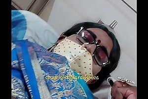 Indian crossdresser model Lara D'Souza sexy video in saree