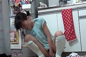 Asian teen toying pussy