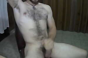 Cute Boy Masturbates With Athletic Body And Hairy Chest