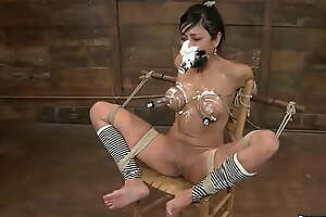 Bound Latina spanked and whipped