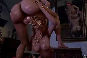 Witcher babes making deep throat hard