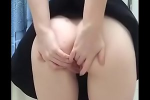 Teen spreads pussy and ass