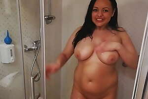 Sex after an enema in the shower