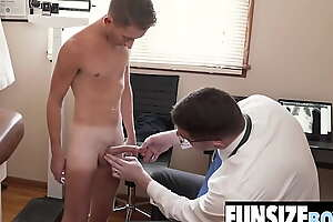 Small twink boy examined and fucked by big dick doctor-FUNSIZEBOYS porn video